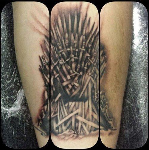 """Татуировки на тематику """"Игры престолов"""" (27 фото)"""