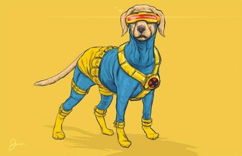 Если бы супергерои были собаками (16 фото)