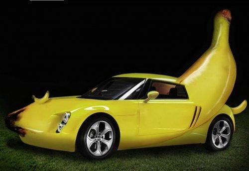 Автомобили в форме банана (10 фото)