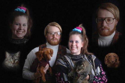 Смешные и забавные фотографии владельцев со своими питомцами (17 фото)