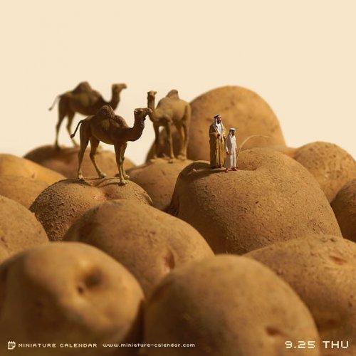 Симпатичные миниатюрные диорамы, которые создаёт Танака Тацуя (25 фото)