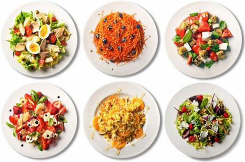 Таблица ингредиентов для вкусного салата (2 фото)