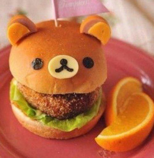 Блюда и десерты в виде медведя Рилаккумы (10 фото)