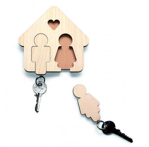 Прикольные и оригинальные держатели для ключей (15 фото)