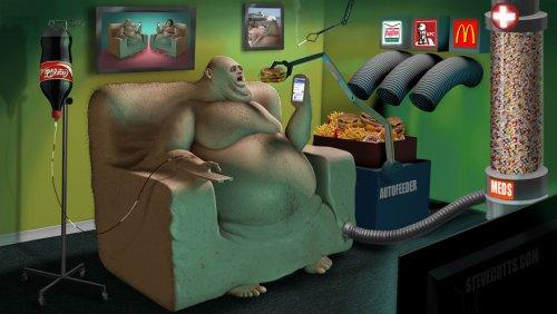 Печальная правда о современном мире в иллюстрациях Стива Каттса (16 фото)