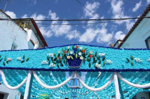 Народный фестиваль цветов в португальском городе Кампу-Майор (14 фото)
