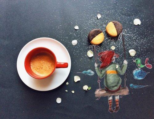 Рисунки за завтраком Чинции Болоньези (12 фото)