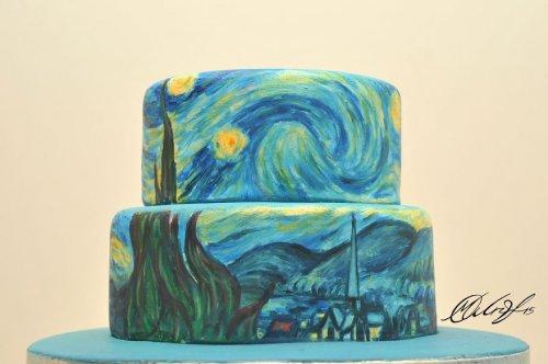 Знаменитые картины на тортах (6 фото)