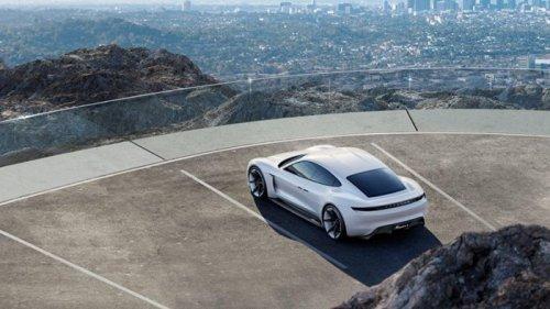 Porsche Mission E: первый электромобиль от Porsche (9 фото)