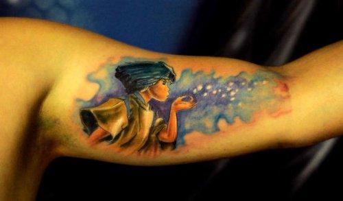 Татуировки, вдохновлённые мультфильмами Хаяо Миядзаки (31 фото)