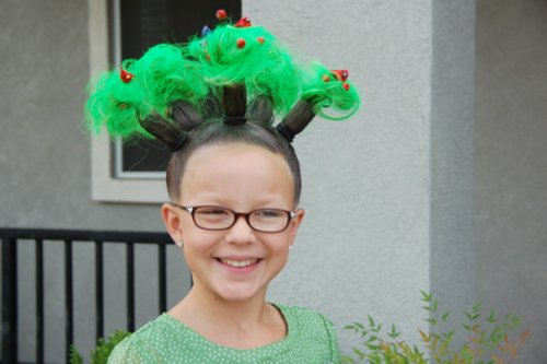 Безумные причёски на Crazy Hair Day (21 фото)