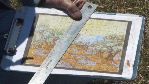 Гигантская картина Ван Гога на поле у города Иган (8 фото + видео)