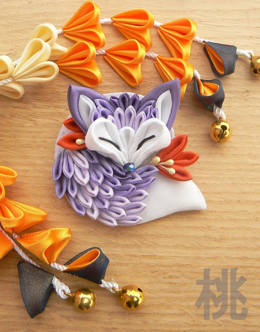 Изготовление изделий в стиле канзаши своими руками 6