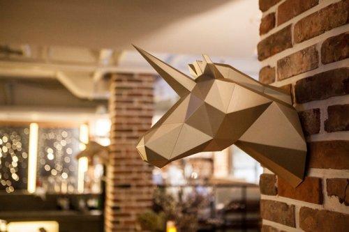 Многоугольные бумажные скульптуры животных, которые украсят любой интерьер (8 фото)