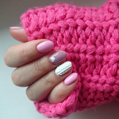 Маникюр с эффектом вязки — модная тенденция во время холодов (8 фото + видео)