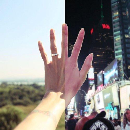 "Любовь на расстоянии в фотопроекте ""Две половинки"" (13 фото)"