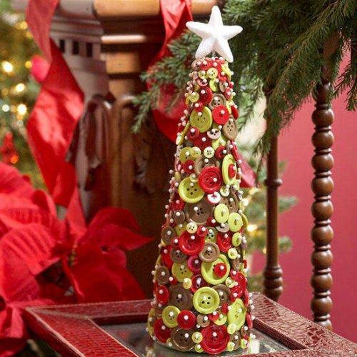 Самодельные мини-ёлочки, которые подарят новогоднее настроение (19 фото)