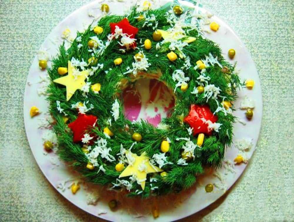 Новогодний стол рецепты салатов с фото