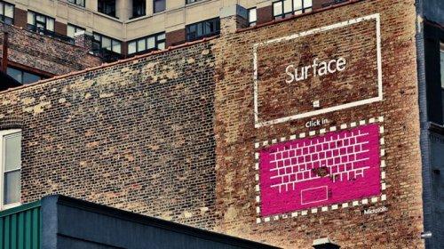 Стрит-арт проект от Microsoft (9 фото)
