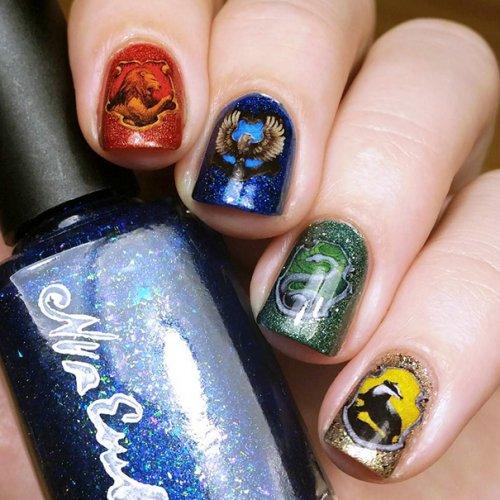 """Дизайн ногтей, вдохновлённый фильмом """"Гарри Поттер"""" (30 фото)"""