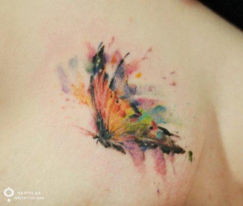 Татуировки в стиле акварель от тату-мастера Silo (11 фото)