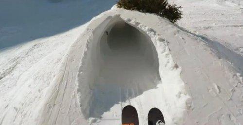 Ещё один захватывающий спуск на лыжах Кандида Тове