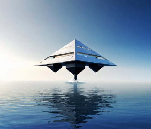 "Концепт ""летающей"" суперъяхты Tetrahedron (5 фото)"