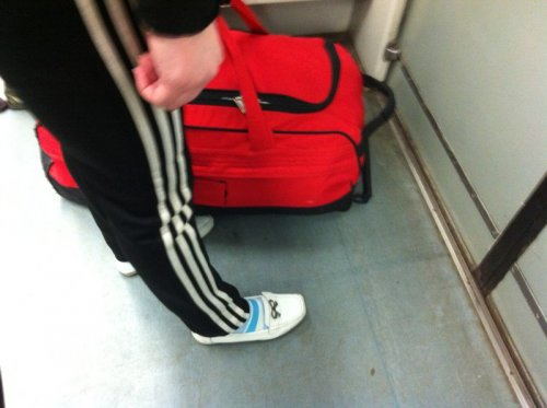 Необычные пассажиры в метро (22 фото)