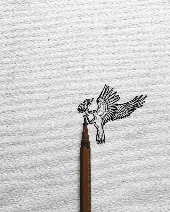 Миниатюрные картинки карандашом