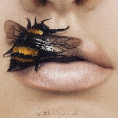 Настоящие произведения искусства на губах (10 фото)
