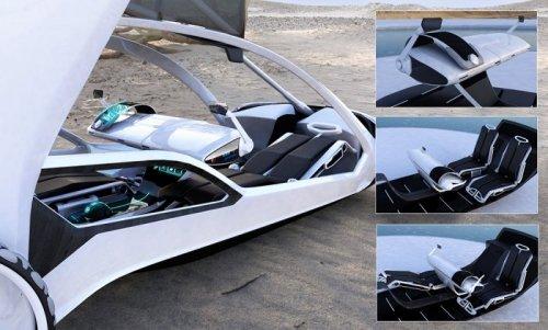 Экологичный концепт-кар Volkswagen RESeT на солнечных батареях (13 фото)