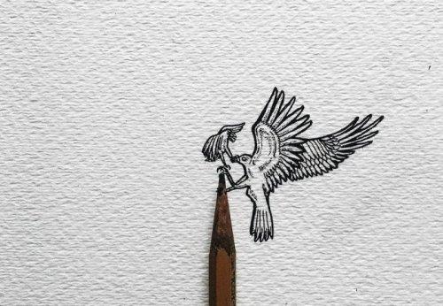 Миниатюрные карандашные рисунки, созданные Кристианом Уотсоном (9 фото)