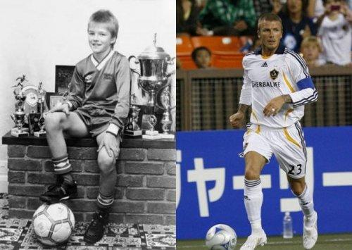 Знаменитые футболисты в детстве и сейчас (11 фото)