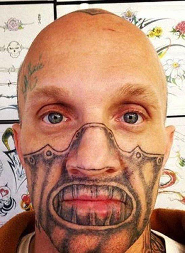 картинки татуировок на лице