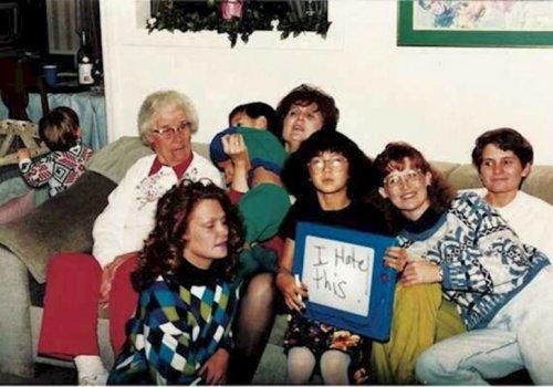 Нелепые семейные фото, которые вас рассмешат (13 фото)