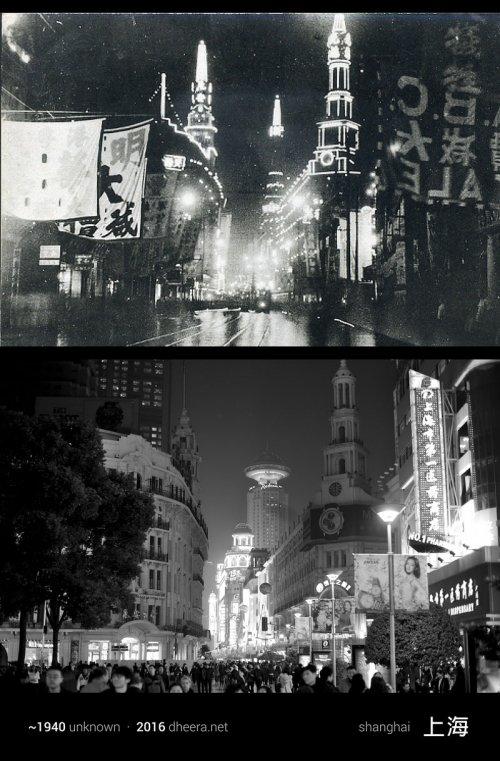 Китай тогда и сейчас: фотограф воспроизвёл снимки 100-летней давности (15 фото)