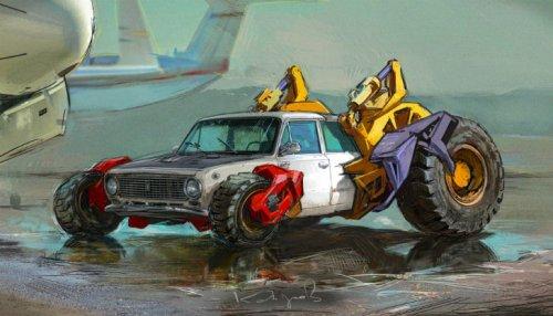 Автомобили из СССР в серии работ Данияра Кдырова (8 фото)