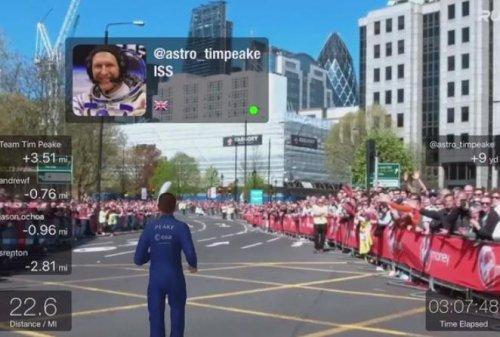 Английский астронавт Тим Пик пробежал Лондонский марафон на МКС (фото + видео)