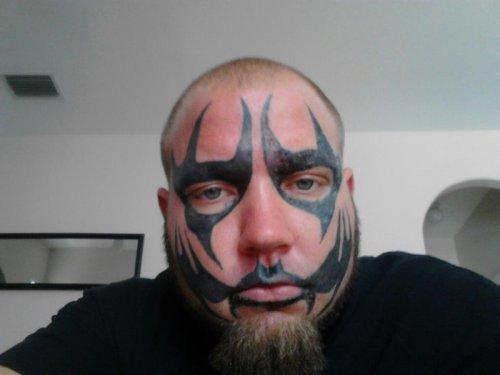 Татуировки на лице (24 фото)