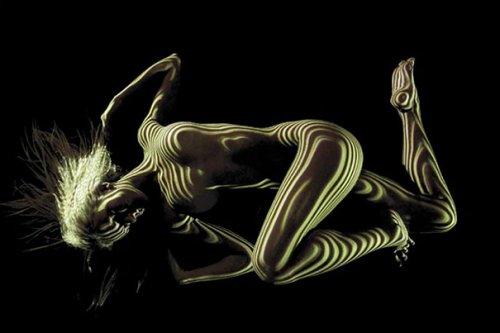 Женское тело в одеянии света и тени (12 фото)