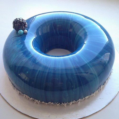 Потрясающие торты с зеркальной глазурью от Ольги Носковой (15 фото)