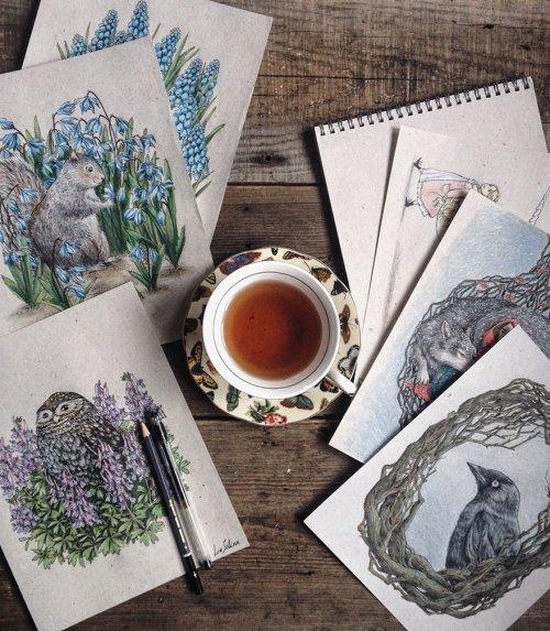 Сказочные иллюстрации Лии Селиной (17 фото)