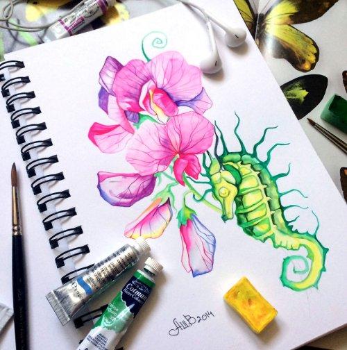 Красочные образы из тетради для рисования Анны Буккьярелли (11 фото)