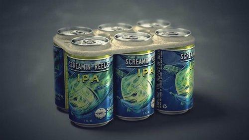 Съедобная упаковка пива для защиты окружающей среды (6 фото + видео)