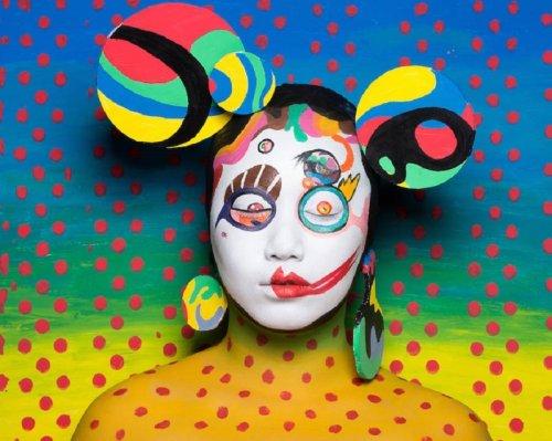 Психоделический боди-арт, отражающий творчество Такаси Мураками (12 фото)