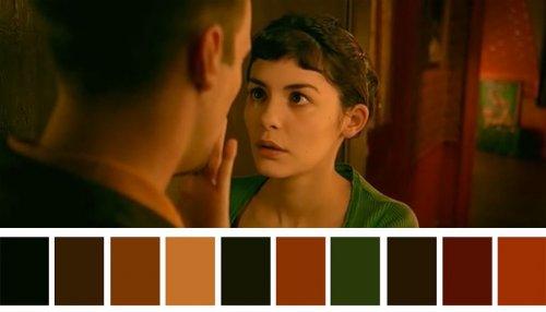 Цветовые палитры сцен известных фильмов (21 фото)