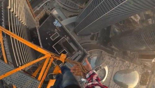 Экстремальный прыжок в стиле Человека-паука