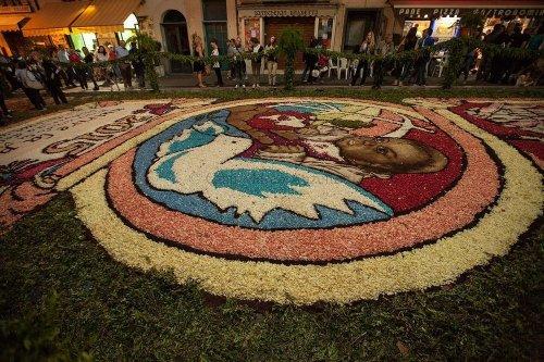 Цветочные ковры на фестивале Infiorata в Италии (12 фото)