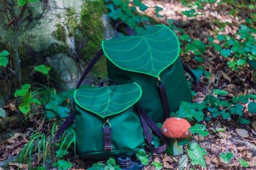Креативные рюкзаки и сумки в форме листьев