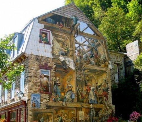 Впечатляющий трёхмерный стрит-арт (15 фото)